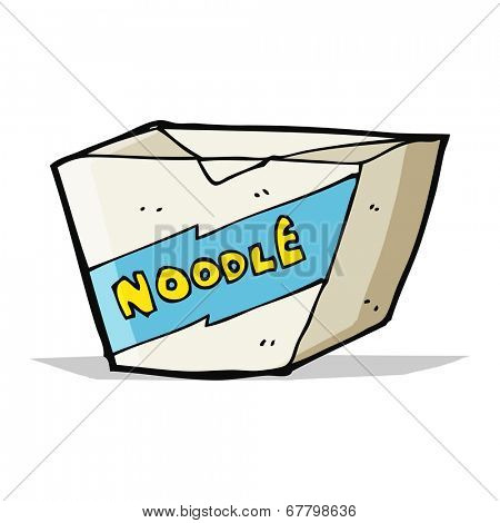 cartoon noodle box