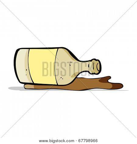 cartoon spilled beer