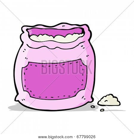 cartoon pink bag of flour