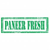 image of paneer  - Grunge rubber stamp with text Paneer Fresh - JPG