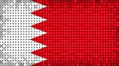 stock photo of bahrain  - Flag of Bahrain lighting on LED display - JPG