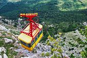 pic of ropeway  - Ropeway in Yalta leading to the top of Ai - JPG