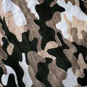 pic of nylons  - Old Thai Military camouflage fabric  nylon police polyester - JPG