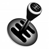 stock photo of gear-shifter  - Gear shifter car gearbox lever vector illustrations - JPG