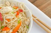 pic of glass noodles  - Chinese noodles fast but delicious food with chopsticks - JPG