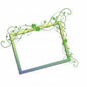 foto of green leaves  - blank frame possibly St patricks day - JPG