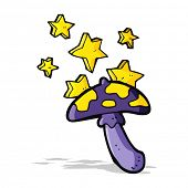image of toadstools  - cartoon magic toadstool - JPG