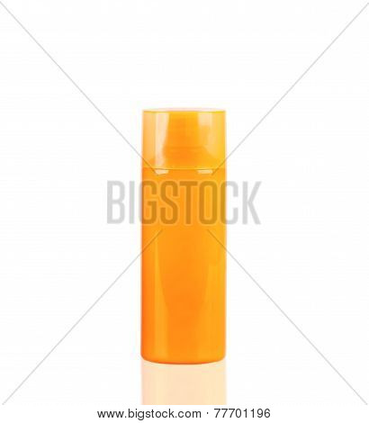 Orange Neon Lotion Bottle