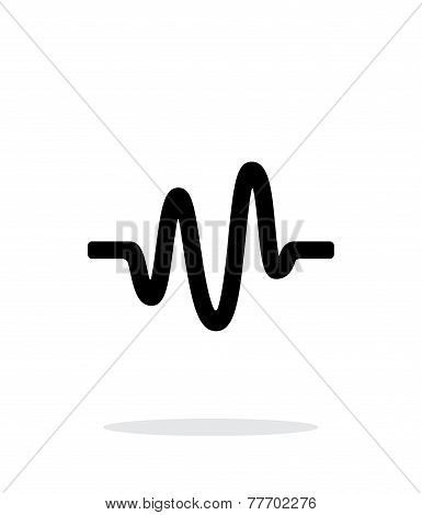 Sound wave icon on white background.