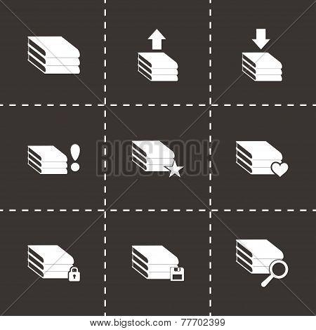 Vector archive icon set
