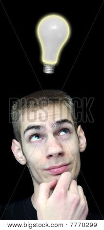 Young Man With Bright Idea