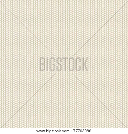 Beige Knitted Pattern