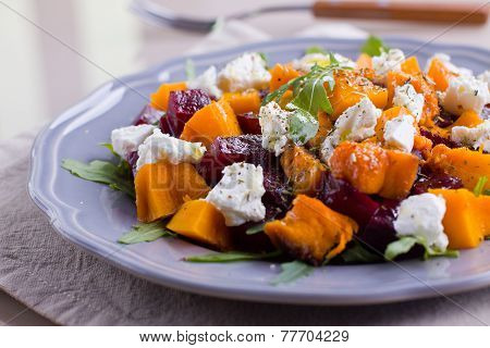 Pumpkin And Beet Salad