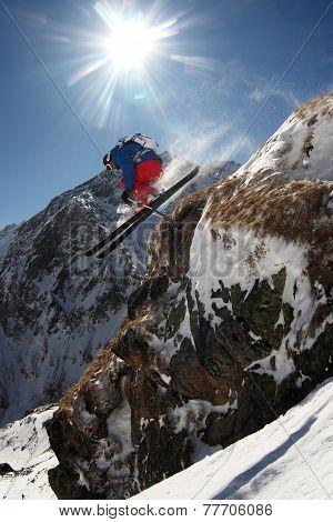 Skier jumping.