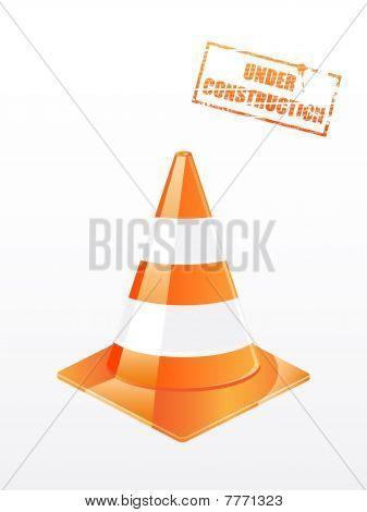 Vector traffic cone