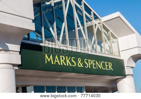 Marks And Spencer (m And S) Shop Sign,logo