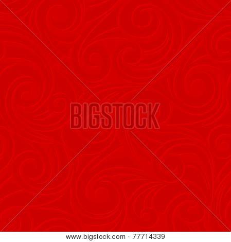 Red seamless pattern. Vector illustration.