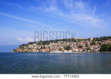 Ohrid is on the Coast of Lake Ohri in Macedonia