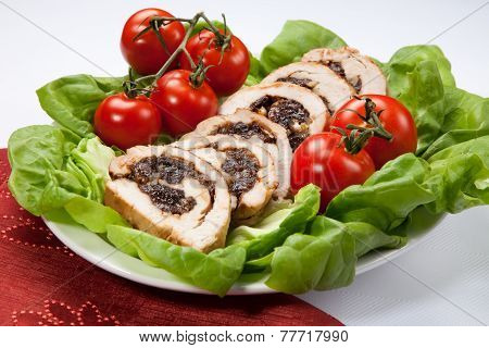 Turkey Breast Roulade On Butter Lettuce