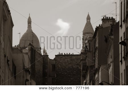 Parisian landscape in sepia