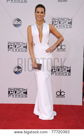 LOS ANGELES - NOV 23:  Kate Beckinsale arrives to the 2014 American Music Awards on November 23, 2014 in Los Angeles, CA