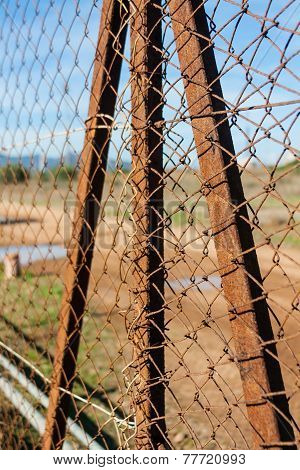 Rusted Wire Netting
