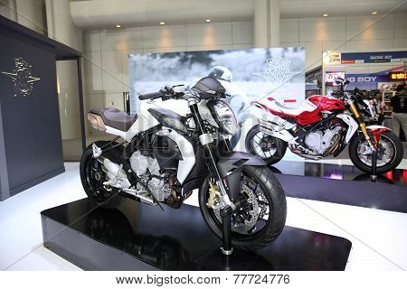 Bangkok - November 28: Agusta Brutale 675 Motorcycle On Display At The Motor Expo 2014 On November 2