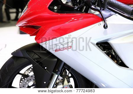 Bangkok - November 28: Fiber Frame Of Agusta F3 800 Motorcycle On Display At The Motor Expo 2014 On
