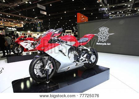 Bangkok - November 28:agusta F3 800 Motorcycle On Display At The Motor Expo 2014 On November 28, 201