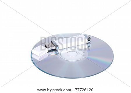 Flash Drive And Cd Or Dvd