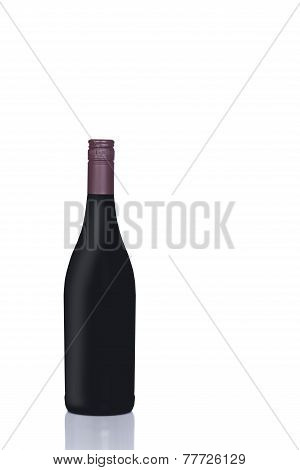 Dark Red Wine Bottle