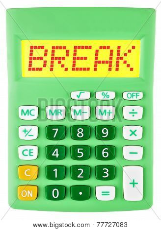 Calculator With Break On Display Isolated