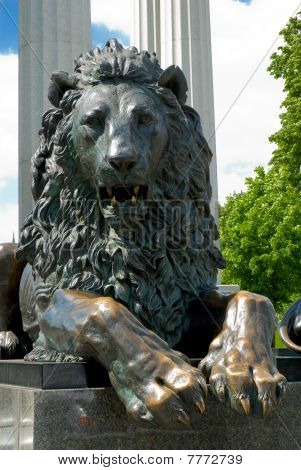 Moscow. Bronze Lion