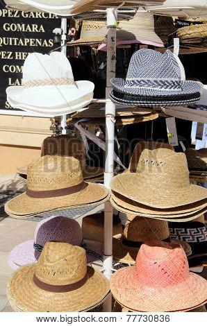 Hats for sale, Malaga.