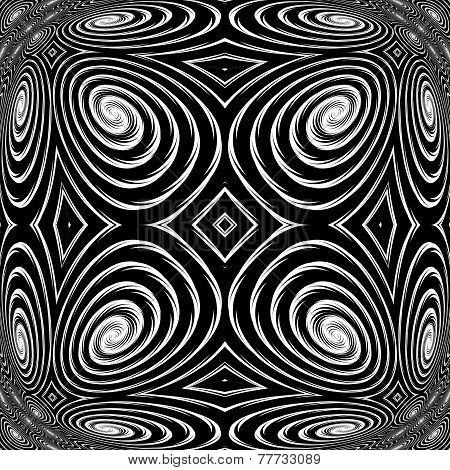 Design Monochrome Spiral Movement Background