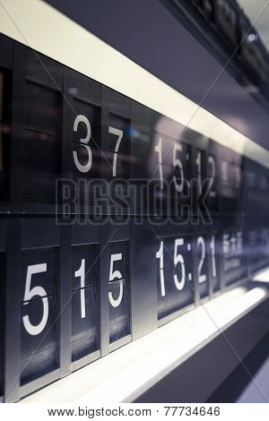 Timetable Schedule at station