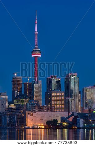Toronto Skyline With At Dawn