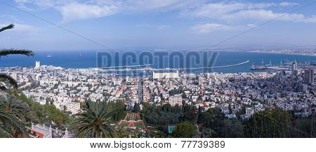 Panoramic view of Haifa, Israel
