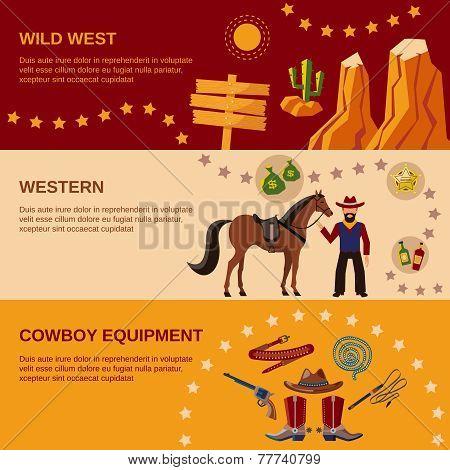 Cowboy banners flat