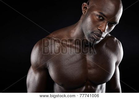 Young Man With Muscular Build