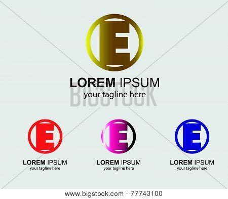 Abstract E logo design template letter E