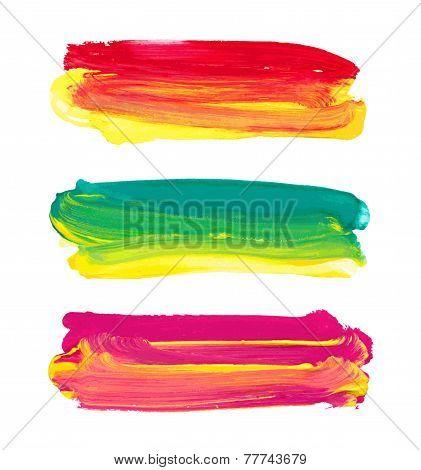 Vector Paint Stripes.