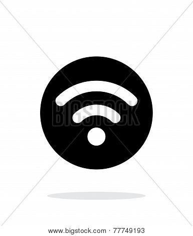Radio signal icon on white background.