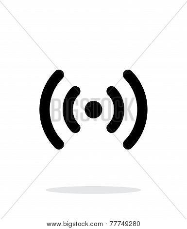 Radio waves icon on white background.