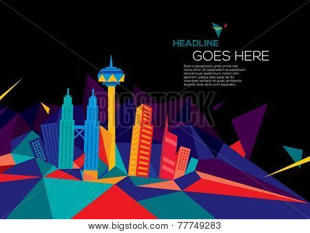 vector of abstract city skyline background