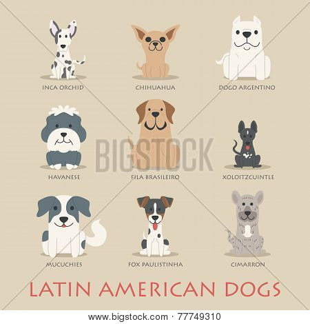 Set Of Latin American Dogs