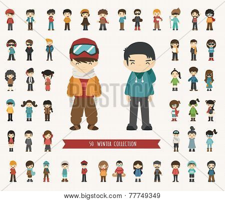 Set Of Winter Collection Character