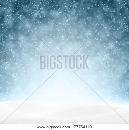 Winter background with snow. Christmas snow surface. Eps10 vector illustration.