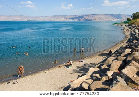 Swimming In Sea Of Galilee