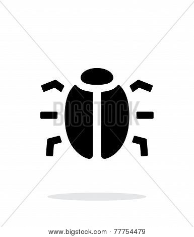 Spy bug icon on white background.